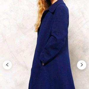 Vintage 100% wool size 11/12 blue coat